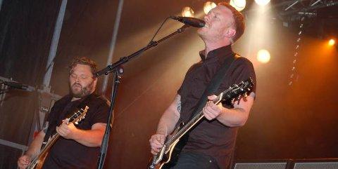FULLT KJØR: Skambankt med Terje Winterstø Røthing i front leverte en tett og kontant opptreden på Gvarv fredag.