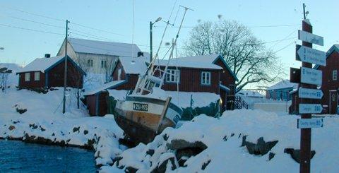Illustrasjon. Den gamle havna på Å.