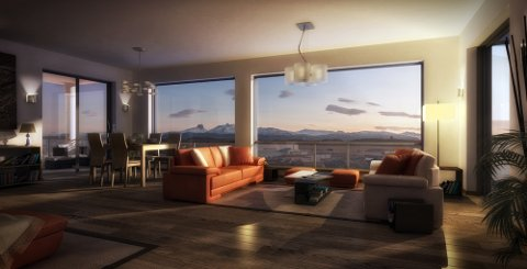 Denne leiligheten er den desidert dyreste i Nord-Norge.