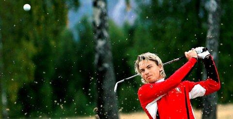 IKKE PÅ TOPP: Morten Emil Bergan kom på 21. plass, og ble heller ikke beste telemarking under norgescupåpningen i golf.