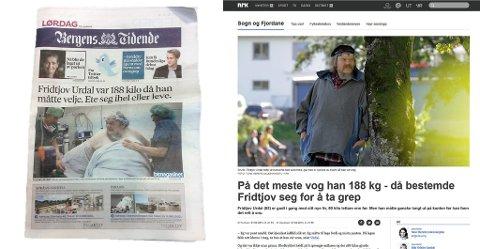 ORIGINALEN OG ETTERLIKNINGA: Det blir ikkje lett for BT å ta betalt for saka si, når ei nærast identisk sak ligg gratis på NRK sine nettsider.
