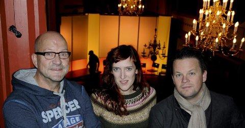 F.v. manusforfatter Stig Bang, skuespiller Ingvild Holthe Bygdnes og komponist og musiker Håvard Lund. Foto: Hanna-Lisa Skau