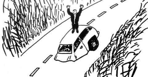 BIT FOR BIT: Norsk samferdselspolitikk er en historie om kortsiktighet, hylekor og snorklipperi. Det kommer sjelden Nord-Norge tilgode. Illustrasjon: Ola Reibo