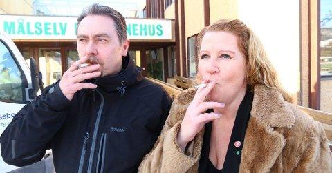 Jaget vilt: Yngve Hagensen og Bente Bjørnås tar en blås ...
