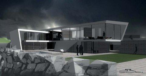Slik blir huset Ole Gunnar Solskjær og kona Silje Lyngvær ønsker  å sette opp på Bryggekanten 21 på Innlandet i Kristiansund. Illustrasjon: Sunniva Rosenberg Arkitektur