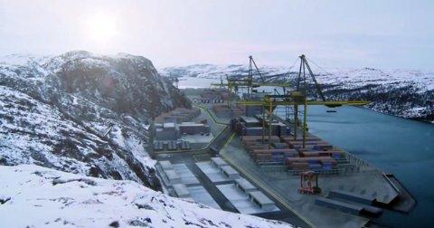 Slik ser finnene for seg en ferdig utbygd havn på Tømmerneset utenfor Kirkenes.