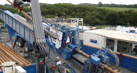 Borehjelp: En av Europas største boremaskiner er nå på vei til Øya i Fet for å legge rør. Foto: Visser & Smit Hanab