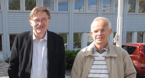 Arkitekt MNAL Oddvar Johansen fra Kritt arkiteklter as sammen med prosjektleder Philip Stephansen fra Backe Prosjekt og Solsiden 1.