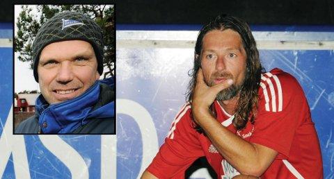 Erik Mykland og Terje Larsen (innfelt) skal trene Risørs A-lag kommende sesong.
