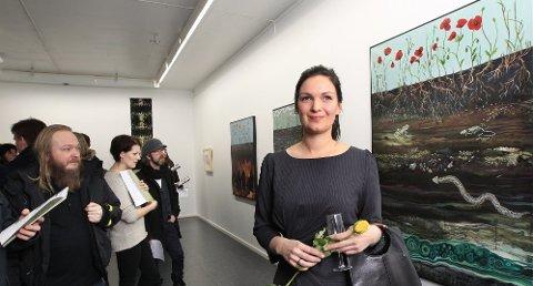 Satt pris på: Katharina Zahl Fagervik fikk Juryens pris 2012 for sin maleritrilogi «Oblivion». (Foto. Bjørn Erik Olsen)