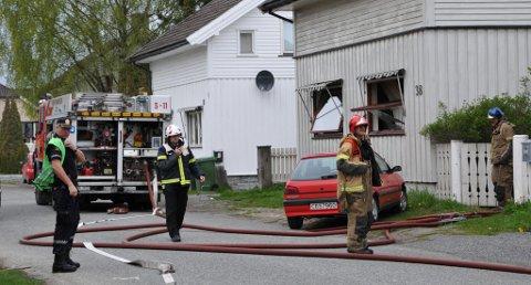 BRANNTILLØP: Brannvesenet fikk raskt kontroll over et branntilløp i et hus i Chr. H. Bloms gate i Skien onsdag ettermiddag.