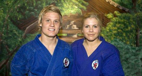 SEKS MEDALJER: Fredrik O. Hansen og Linda Skarprud tok til sammen seks medaljer på europacupstevnet i Kroatia i helgen.