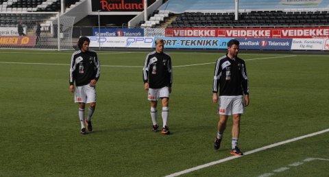 DELVIS: Adem Güven, Mattias Andersson og Morten Fevang trener bare delvis og alternativt om dagen.