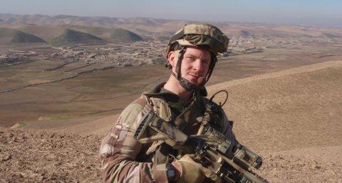 I Afghanistan: Et bilde av Jesper Bjørnhøy fra Langesund på patrulje i Afghanistan. Foto: privat