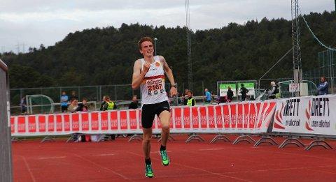 Marius Vedvik fra Gular vant femkilomteren.
