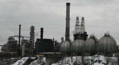 Gassanlegget på Mongstad (27.01.2010).