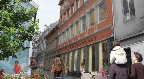 Slik kan litteraturhuset bli når det flytter inn i lokalene i  østre Skostredet 5-7.