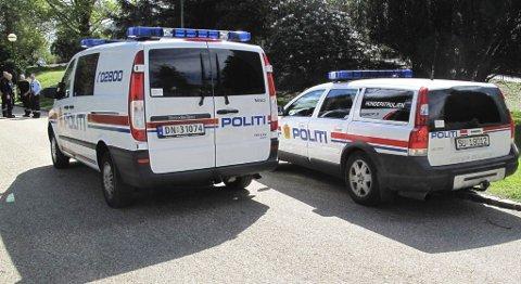 Politiet rykket ut da de fikk melding om en maskert mann i Nygårdsparken. Bildet er tatt tidligere i år (13.05.2010).