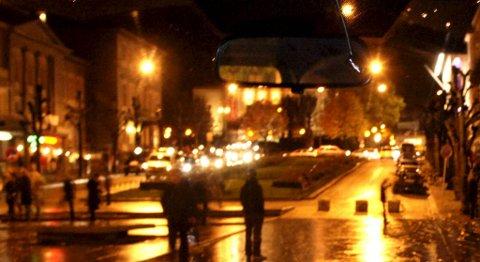 Bergen sentrum nattestid (illustrasjonsbilde)