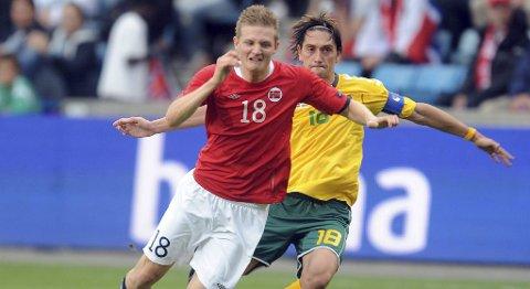 Erik Huseklepp skaffet Norge straffe i kampen mot Litauen.