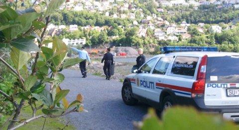 Politiet på jakt etter taggere mellom Store Lungegårdsvann og Florida (13.06.2011).