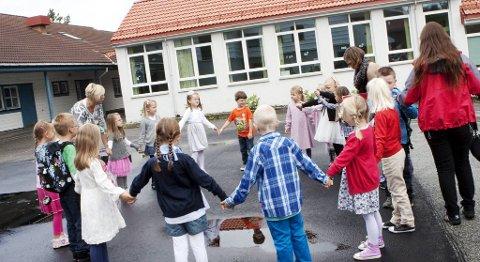Skolestart Alvøen skole (illustrasjon).