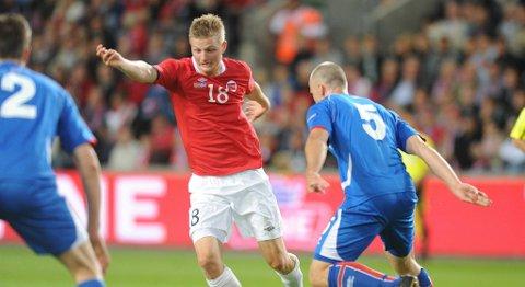 Erik Huseklepp var ikke involvert i Norges mål mot Island.