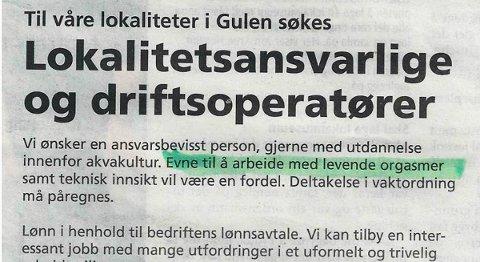 «Organismer» ble «orgasmer» i avisen Strilen rett før helgen.