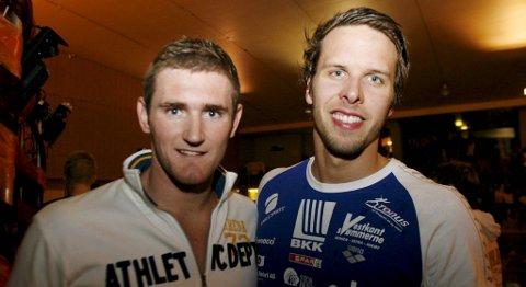 Cameron Van Der Burgh og Alexander Dale Oen under Bergen swim festival 2009.