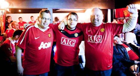 I mai 2011 ble det stiftet lokalavdeling for United-supporterne i Bergen. Per Harald Larsen, Alexander Vedvik og Kjetil Hagen var selvsagt tilstede. (arkiv)