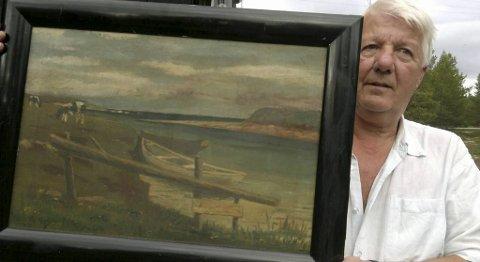 Tore Paulsen Værnes har arvet dette maleriet. Nå lurer han på om noen kan hjelpe ham med informasjon om kunstneren.