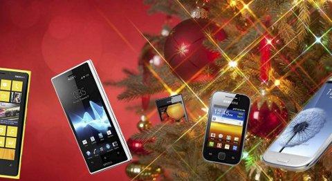 De perfekte mobilene under juletreet.