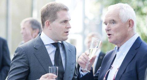 DEBATT: Både styreleder Trond Mohn og direktør Frederik Wilhem Mohn argumenterte under den offisiell åpningen av industrianlegget til Framo Engineering på Horsøy i slutten av september. Nå har arvingen trukket seg fra selskapet.