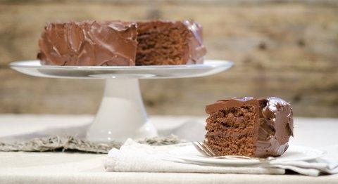 Denne sjokoladekake er enkel å lage.