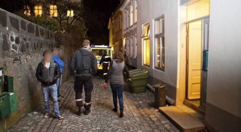 Kvinnen hadde bodd i studentenes hjem her i Lille Markeveien på Nordnes mens de var på påskeferie.