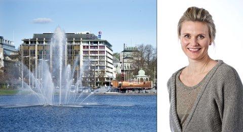 Først i verden: Bergen kan bli den første Innovasjonsbyen i verden, skriver Monica Hannestad. Noe å tenke på i 17.mai-toget. Her rigges det til på Festplassen til den store dagen.