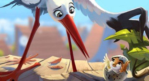 Her er arbeidstegning fra «Richard The Stork».