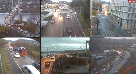 Her får du oversikten over trafikken. Se alle webkameraene i Bergensområdet.