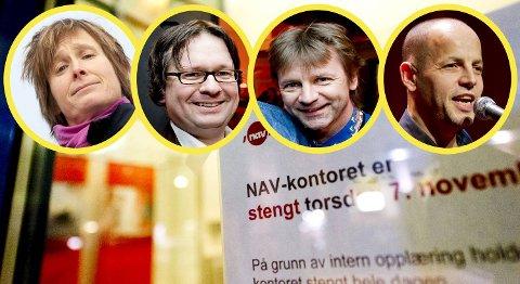 Linda Eide, Finn Tokvam og Bård Ose fra NRK, samt musiker, forfatter og Brann-bloggeren Doddo skal underholde de Nav-ansatte.