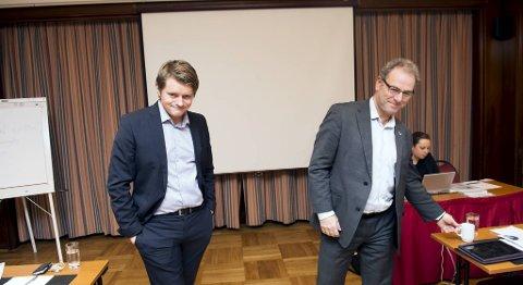 Peter Christian Frølich og Dag Skansen før møtet.