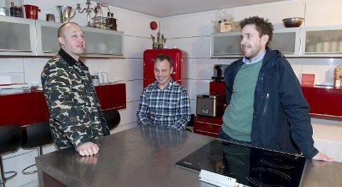 Christopher Haatuft, kokk på Lysverket, Fredrik Herud Sørensen og Frode Alræk som eier Søtt +Salt synes det er fint å samarbeide om å gjøre Bergen til en bedre matby.