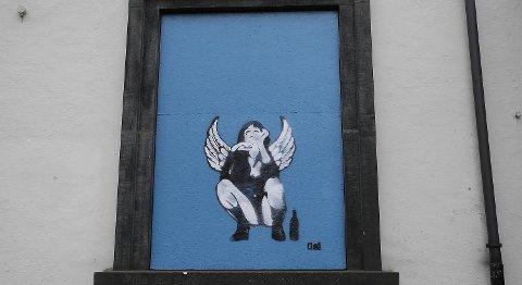 Signaturen Gal står bak ny gatekunst på Finnegan's.