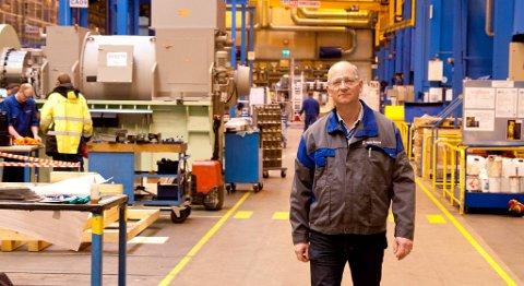 Leif-Arne Skarbø er leder for teknologi og utvikling i Bergen Engines, som produserer motorer for Rolls-Royce.