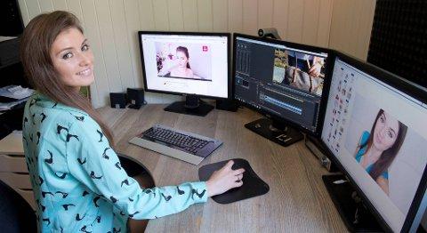 - Jeg bruker tre, fire timer på hver video, og gjør alt selv, som filming og redigering, sier Elena Ingemannsen.
