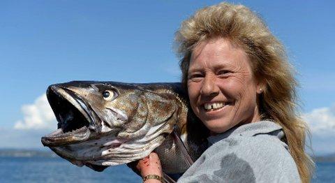 Judith Brommeland satte ny norsk rekord med en lysing på 13,22 kilo og 119 centimeter.