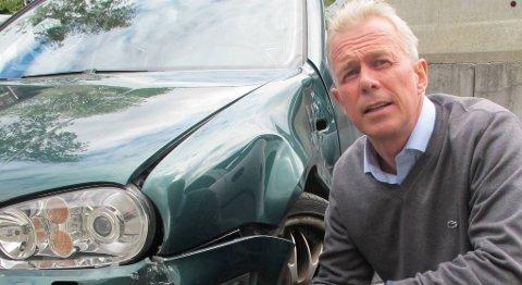 Informasjonssjef Arne Voll i Gjensidige råder folk til å parkere med omhu for å unngå slike skader.