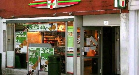 Ransforsøket på 7-Eleven-kiosken på Vågsallmenningen i mars var amatørmessig, mener tingretten. Arkiv
