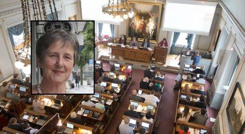 Rita Tveiten har lang erfaring med hersketeknikker fra sin tid som kommunestyre- og stortingspolitiker. Bergen bystyre er ett av to kommunestyrer de tre BI-studentene har observert.