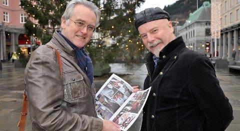 -Det er en hyggelig julehistorie, sier Gunnar Staalesen om årets Veum-julehefte etter en idé av Arild Wærness. De signerer på Narvesen i Olav Kyrresgate lørdag.