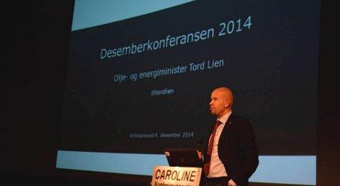 Tord Lien talte på Desemberkonferansen i Kristiansund.